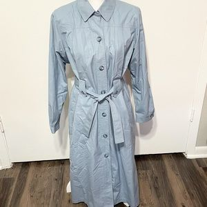 London Fog Sky Blue Discontinued Long Trench Coat